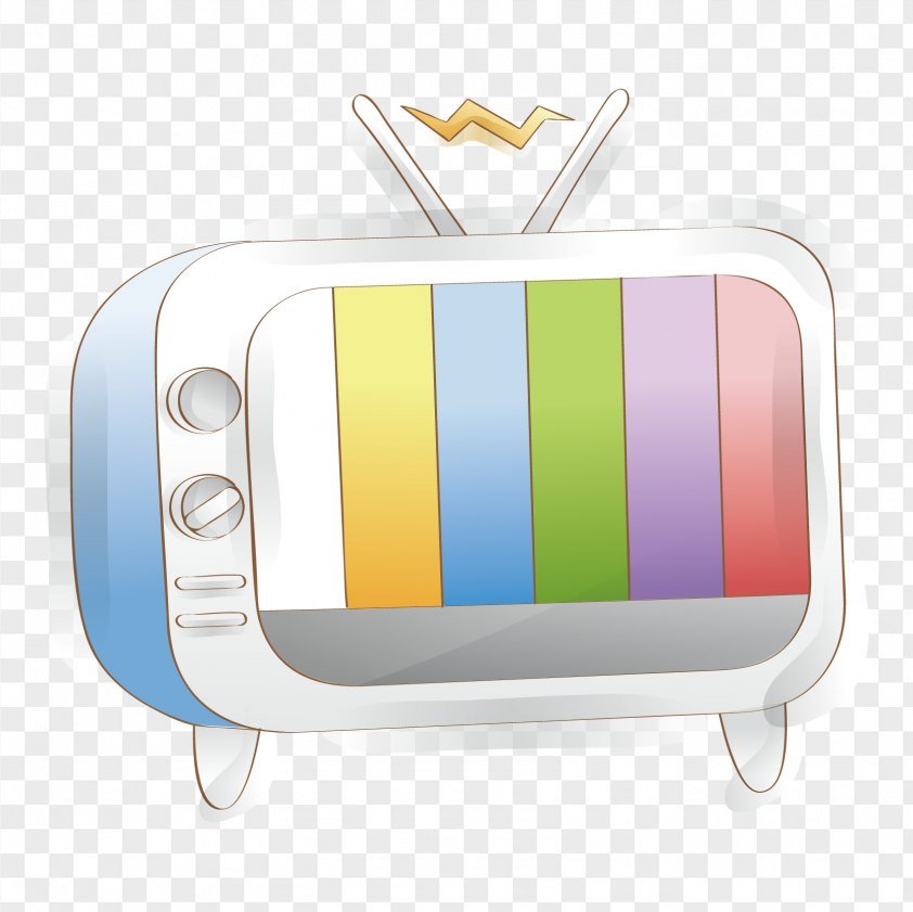 Vector Hand-painted TV Material PNG