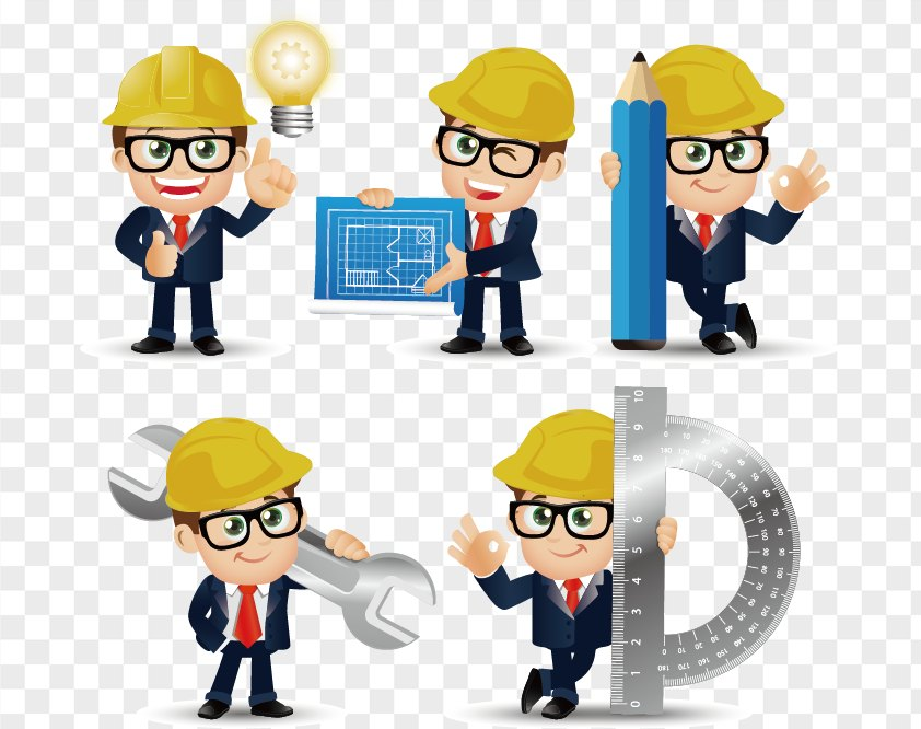 Construction Engineer Cartoons PNG