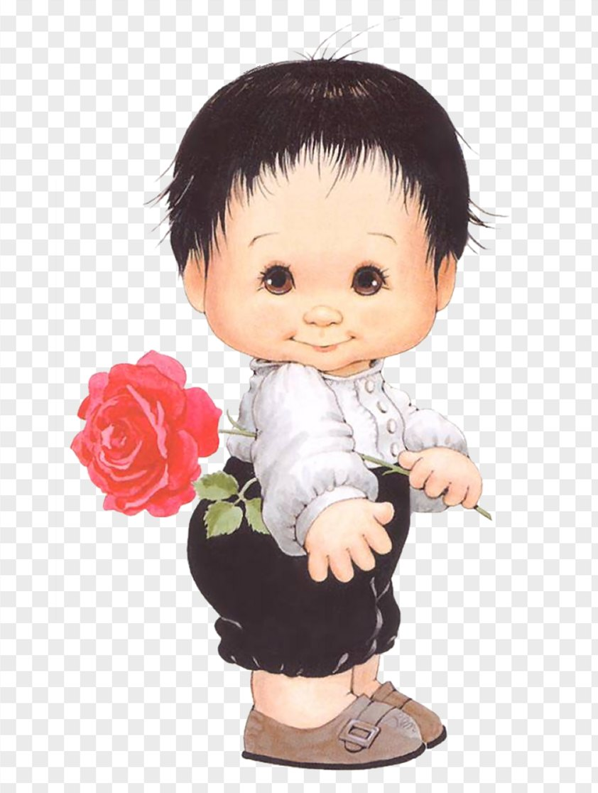 Boy With Rose PNG